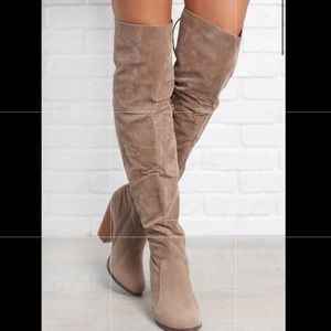 Thigh high boots (Taupe)